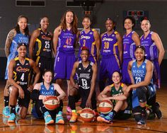 The Western Conference All-Stars pose for a portrait prior to the 2014 Boost Mobile WNBA All-Star Game on July 19, 2014 at US Airways Center in Phoenix, Arizona.