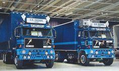 Volvo twins (identical) Volvo Trucks, Peterbilt, Classic Trucks, Semi Trucks, Garages, Vr, Rigs, Sweden, Vehicles