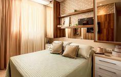 Apartamento de apenas 37 m² tem dois confortáveis dormitórios - Casa Solução para quarto pequeno