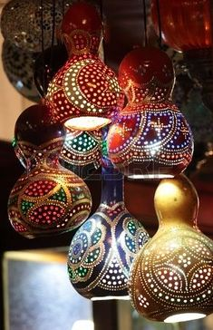 Gourd Lamps                                                                                                                                                     More #Gourds