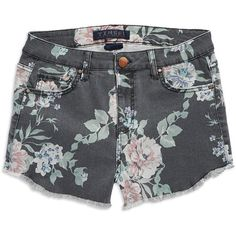 Tinsel Floral Denim Shorts ($45) ❤ liked on Polyvore