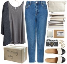 """MOVING DAY"" by tania-maria ❤ liked on Polyvore"