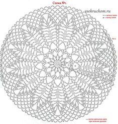 29 New Ideas crochet basket chart knitting patterns Crochet Doily Patterns, Crochet Diagram, Crochet Chart, Crochet Motif, Crochet Doilies, Crochet Stitches, Knitting Patterns, Knit Crochet, Crochet Round