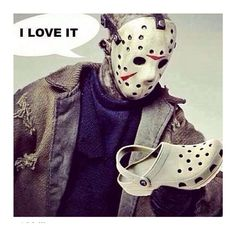 #lolorama #crocs #killme #lol #funny #halloween #mask #killer #uglyshoes #shoes #love #not #picoftheday #bestoftheday #swag #fashion #nono #instagood #instadaily