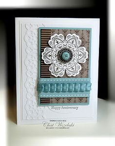 Gorgeous card with many textures and techniques  ♥