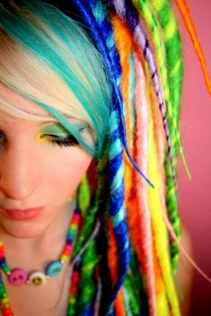 rainbow yarn dreads