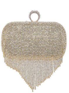 The Brittany Gold Rhinestone Evening Handbag