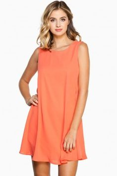 Hilary Shift Dress in Coral