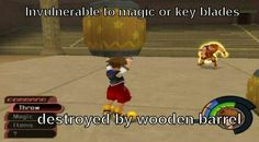 Kingdom Hearts logic Suddenly, PewDiePie comes to mind. ;P
