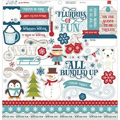 Try This: I Love Winter Cardstock Stickers 12X12-Element