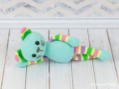 Free stripy cat amigurumi pattern by Amigurumi Today for beginners