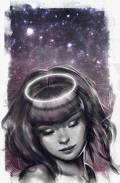 Angel of night by aynnart.deviantart.com on @DeviantArt