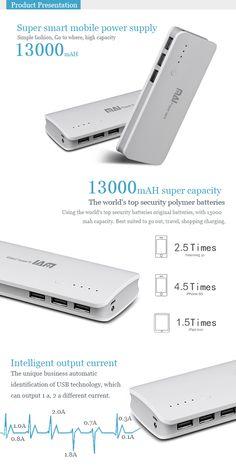 MAI-501 13000mAH Super smart large capacity mobile power supply for iPhone 5 5S 5C/iPad 4 Mini Air - See more at: http://www.maidipower.com/13000mah-super-smart-large-capacity-mobile-power-supply.html#sthash.6nNKp2lk.dpuf