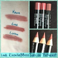 NYX Slim Lip Pencils. Dupe for Mac (L-R): Whirl, Soar & Spice. If ...