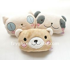 Cheap pillow natural, Buy Quality blanket heat directly from China blanket travel Suppliers: Ts factory cat /bear/panda head plush pillow blanket , animal plush kids coral fleece blanket pillow &nbsp Cheap Pillows, Diy Pillows, Panda Head, Cute Cushions, Kids Blankets, Puff, Animal Heads, Cute Pins, Polar Fleece