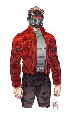 Can't find any pics from when Gamora took up the Star-Lord costume, buuuut. A Lady Quill would be cool to do (and easy). Peter Quill by Felipe Smith Marvel Comics, Marvel Heroes, Marvel Characters, Batman Begins, Star Lord Costume, Gardians Of The Galaxy, Arte Nerd, Avengers Art, Peter Quill