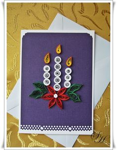 #Quilling #Christmas #Candles***Altho this pin is not of my work ....PLEASE visit my Gallery at:  rose-santucisofranko.artistwebsites.com .... and my store at:    http://www.zazzle.com/artists4god?rf=238686044861169565
