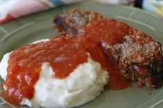 Our Southern Meatloaf with Tomato Gravy - Recipes - - Meatloaf Recipes - Meatloaf Recipes, Meat Recipes, Gourmet Recipes, Cooking Recipes, Recipies, Meatloaf With Gravy, Meatloaf Gravy Recipe, Easy Meatloaf Recipe Tomato Sauce, Red Gravy