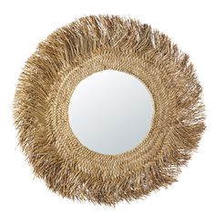 Bring a little bit of sunshine into your home with the KINSHASA Plant Fibre Mirror We adore its woven natural fibre frame which ensures Hallway Furniture, Sideboard Furniture, Dining Room Furniture, Dining Room Bench Seating, Dining Sofa, Sun Lounger Cushions, Summer Deco, Estilo Tropical, Decorative Storage Boxes