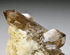 fuckyeahmineralogy:    Quartz var. Smoky Quartz - Glacier de l'Argentiere, Mont Blanc, Chamonix, France