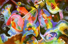 """""""When people ask me how to improvise, only a little of what I have to say is about music."""" Steven Nachmanovitch [painting by Kandinsky]"""