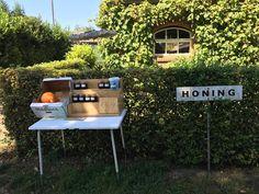 Fresh honey steps from our house in Leenderstrijp. Best. Honey. Ever.