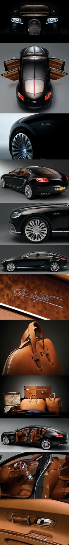 View detailed pictures that accompany our #Bugatti 16C Galibier concept in #black article with close-up photos of exterior and interior features. (22 photos)