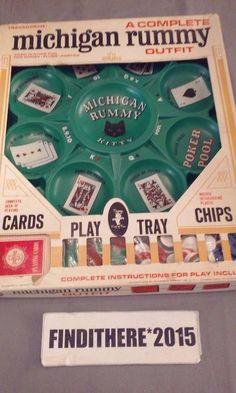 Vintage Michigan Rummy 1963 100% Complete #Transogram