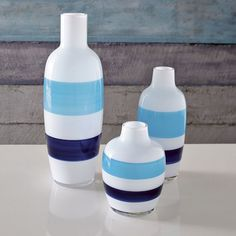 Seaside Vases - Stripe | west elm