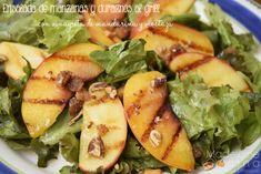 Ensalada de manzana y duraznos al grill  #MadeleineCocina #Salad #Light