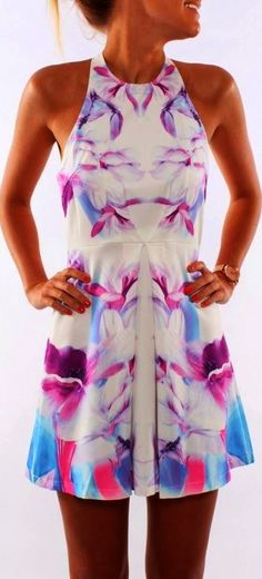 Jean Jail Floral Sleeveless Dress