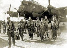 piston wings — snafu65:   A RAF Bomber Crew Returning From A...