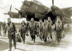 RAF Lancaster bomber crew.