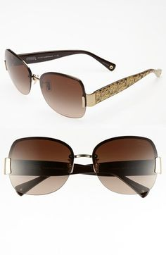 COACH 61mm Rimless Sunglasses available at #Nordstrom