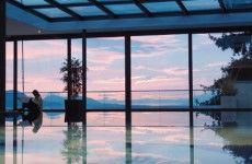 Admire sunset while bathing Givenchy, Spa, Wayfarer, Bathing, Mens Sunglasses, Relax, Wellness, Pure Products, Sunset