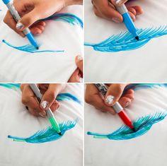 DIY Basics: Watercolor-Inspired Throw Pillows via Brit + Co.