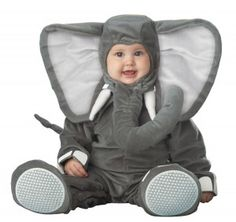 Lil Elephant Character Toddler Costume - Lil Elephant Character baby outfits & animal costumes from our Toddler Costumes section. Costume Cauldron is the web's finiest theatre and Halloween store. Baby Elephant Costume, Halloween Bebes, Baby Boy Halloween, Animal Halloween Costumes, First Halloween, Cute Costumes, Elephant Baby, Infant Halloween, Baby Halloween