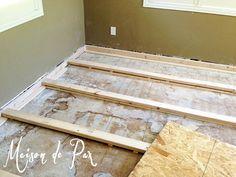 My Brilliant Husband [and our new office floor] - Maison de Pax Best Bathroom Flooring, Best Flooring, Diy Flooring, Kitchen Flooring, Flooring Ideas, Modern Flooring, Laminate Flooring, Home Remodeling Diy, Home Renovation