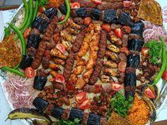 Adana kebab, Lahmacun,Patlıcan Kebabı, Çöp şiş, Kuşbaşı ve daha niceleri :))