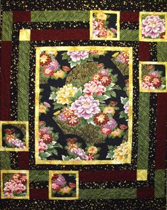 Showcase large print fabric with this quilt pattern. It's a easy one!