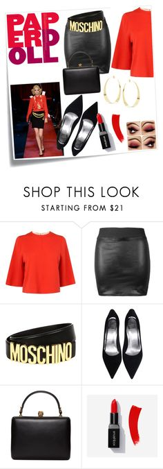 """""""Paper doll"""" by eleanapappa ❤ liked on Polyvore featuring Post-It, Moschino, L.K.Bennett, Alexander McQueen and Lana"""