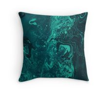 Turquoise Marble Throw Pillow