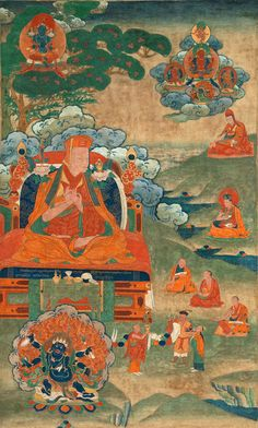 rimay-art ~ Jamgon Kongtrul championed the view of rimay, recognizing the inherent value of all Buddhist teachings.
