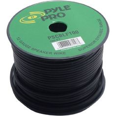 Pyle-Pro PSCBLF100 100 Feet 12 AWG Spool Speaker Cable with Rubber Jacket by Pyle. $18.70. This 12-gauge Pyle premium audio cable Provides a high quality connection between your speakers and amplifier. This cable has been designed for maximum noise isolation thanks to the electromagnetic shielding and precision formulated materials. 100 ft. length.