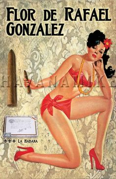 Your place to buy and sell all things handmade - Set of FOUR Cuban CIGAR Vintage Pinup CUBA Travel Poster Print image 1 You are in the right place ab - Pin Up Posters, Poster S, Travel Posters, Poster Prints, Girl Posters, Art Print, Pinup Art, Dibujos Pin Up, Cigars And Women