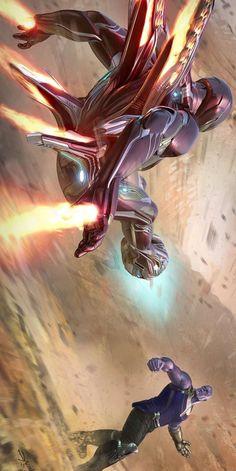 Iron Man Fighting Thanos iPhone Wallpaper - #Fighting #Iphone #Iron #man #Thanos #Wallpaper