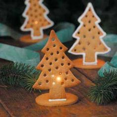Gingerbread Candle Holders Recipe from Taste of Home