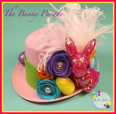"New ""The Bunny Parade"" Roses Pearls And Rhinestones Easter Spring Pink Mini Felt Top Hat Pageants Photo Prop Girls Toddlers Tweens Easter Projects, Easter Crafts, Holiday Crafts, Crafts For Kids, Holiday Fun, Easter Ideas, Diy Crafts, Happy Easter, Easter Bunny"