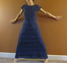 Pleated umbrella shape long dress custom by annyschooecoclothing, $128.00