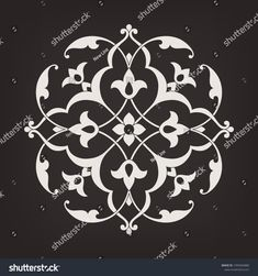 Circular pattern in arabesque style. Pattern Art, Print Patterns, Pattern And Decoration, Islamic Patterns, Bohemian Pattern, Hand Painted Plates, Turkish Art, Circular Pattern, Islamic Art